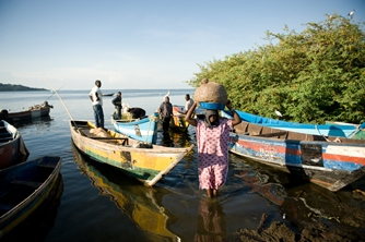 fishing community members in africa